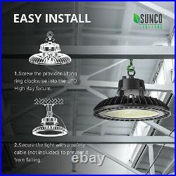Sunco UFO LED High Bay Light 6 Pack 150W 21000 Lumens 5000K Daylight Waterproof
