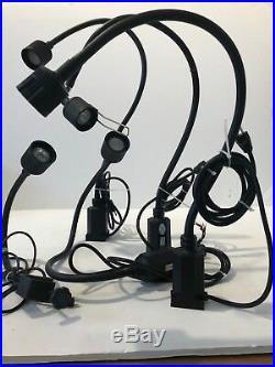 Sunnex HS 700 Series Table Lamp Hologen 120V Black LOT of 6