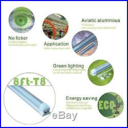 T8 8FT LED Shop Light 72W 7200LM 6000K V Shape Integrated LED Tube Light 10Packs