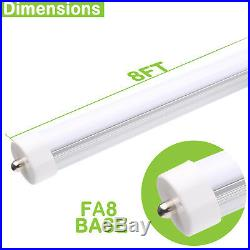 T8 T10 T12 LED Tube Light 8 Ft 50W 5000lm 5000K Dual-End Frosted Lens Multi Pack