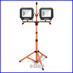 Tacklife 10000 Lumen Tripod LED Work Light with Two-Head Total 100W Work Lights