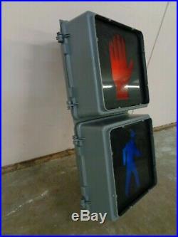 Traffic Control Tech Pedestrian Walk Don't Walk Signal 12x12 Lens Hand / Man
