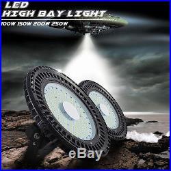 UFO 100W 200W 250W LED High Bay Warehouse Light Bright Fixture Factory Shop Lamp