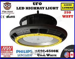 UFO 250W LED High Bay Light Bright White Warehouse Factory Outdoor Philips LED