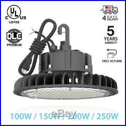 UFO LED High Bay Light 250W 200W 150W 100W 60W Warehouse Lighting White/Black-UL