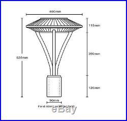 UL 100W LED Post Top Pole Light Retrofit Outdoor Street Parking Lot Lights 5000K