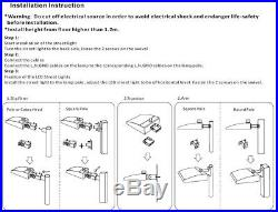 UL 300W LED Shoebox Fixture Replace 1500Watt Parking Lot area light slip fitter