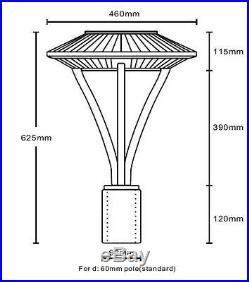 UL DLC 150Watt LED post top area light Parking lot pole Fixture replace 400W MH