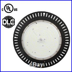 UL DLC 200W UFO LED Highbay Light High Output 1000W MH Warehouse Garage 5000K