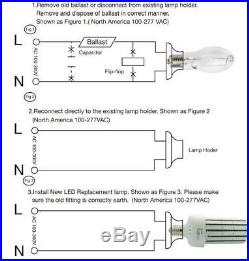 UL cUL1500W Metal Halide High Bay Light Replacement 250W LED Corn Bulb E39 Mogul
