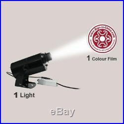 US 80W Outdoor Black Desktop Mountable LED Gobo Projector Advertising Logo Light