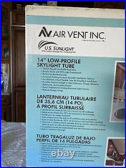 US Sunlight 98100 14in. Radiant Skylight Tube, Black