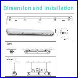 Vaporlight 4' LED Vapor Proof Light and Wet Location Fixture WaterProof NE 6Pack