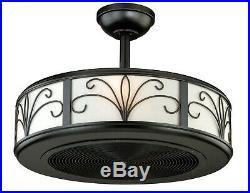 Vaxcel Veranda 21 inch New Bronze with Walnut Blades Ceiling Fan F0029