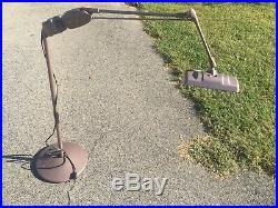 Vintage Dazor M-210-a Magnifier Floor Lamp Industrial Floating Arm Light