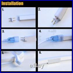 Warm White LED Neon Rope Light Strip for Room Flex Tube Wedding House Decor USA