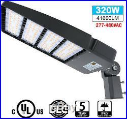 Waterproof Pole Mounted Shoebox Light 320W Commercial LED Area Lighting 5700K UL