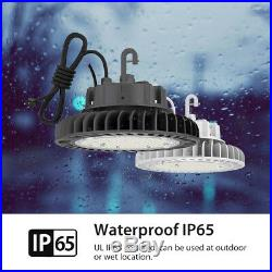 White 100W 5000K Led High Bay Light UFO Fixture Dimmable Warehouse Shop Lamp