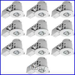 White LED Recessed Lighting Light Trim Kit 10 Lot Pack Remodel Housing Dimmable